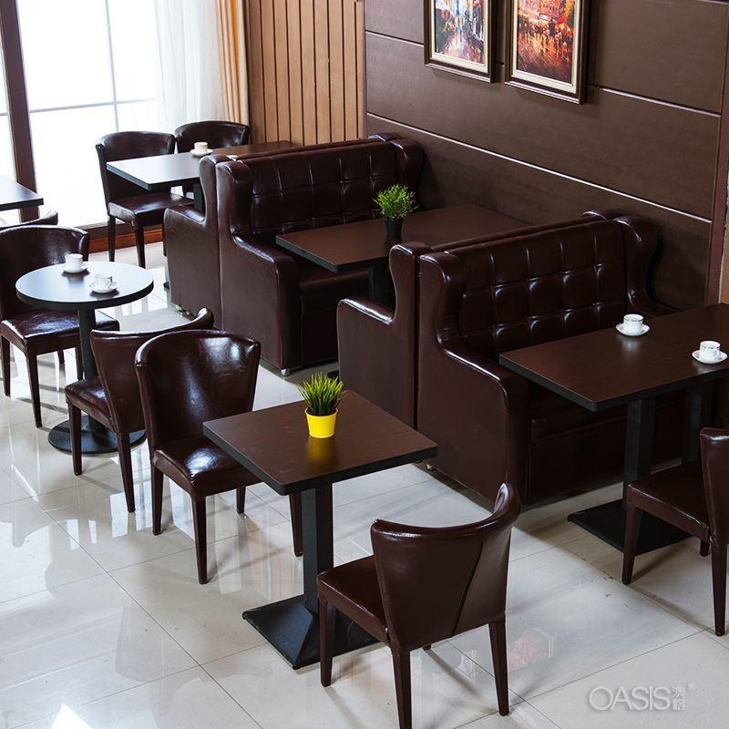 衡水主题餐厅烤鱼湘菜馆餐桌卡座沙发定制
